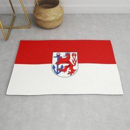 flag of Düsseldorf or Dusseldorf Rug