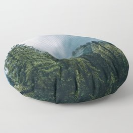 Sequoia Foggy Forest Floor Pillow
