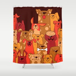 Pile of Woofs Shower Curtain