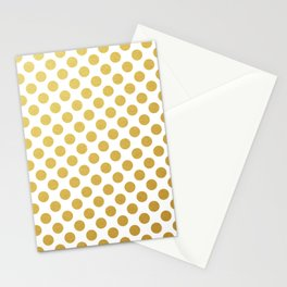 Gold dots on white Stationery Cards