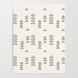 Minimalist Triangle Line Drawing Poster