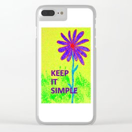 Wildflower Keep It Simple Clear iPhone Case