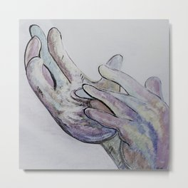 ASL Jesus Denim Coloring Metal Print