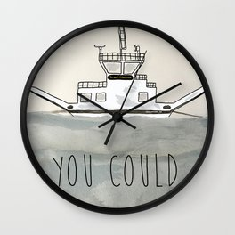 Englishtown Ferry Wall Clock