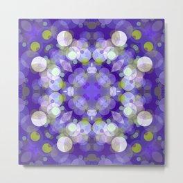 Purple Abstract Bubble Design SB9 Metal Print