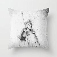 soldier Throw Pillows featuring Soldier by courtneeeee
