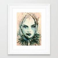 indigo Framed Art Prints featuring Indigo by Sarah Weyman