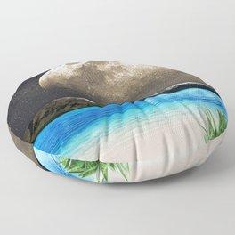 Aloe Vera Moon Beach Floor Pillow
