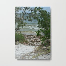 Lemon Bay Waves DPG160517b Metal Print