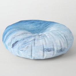 Wild Atlantic ocean Floor Pillow