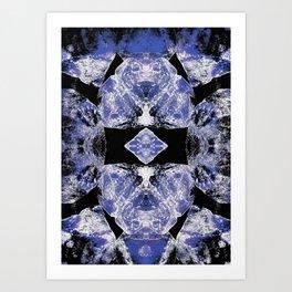 Indigo Mandala-Third Eye Chakra Art Print