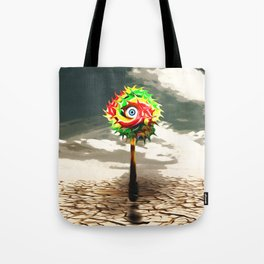 DESERT landscape with lolli pop candy Tote Bag