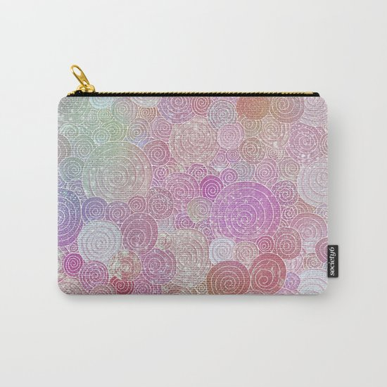 Abstract pink rosegold glamour glitter circles for ladies on #Society6 Carry-All Pouch