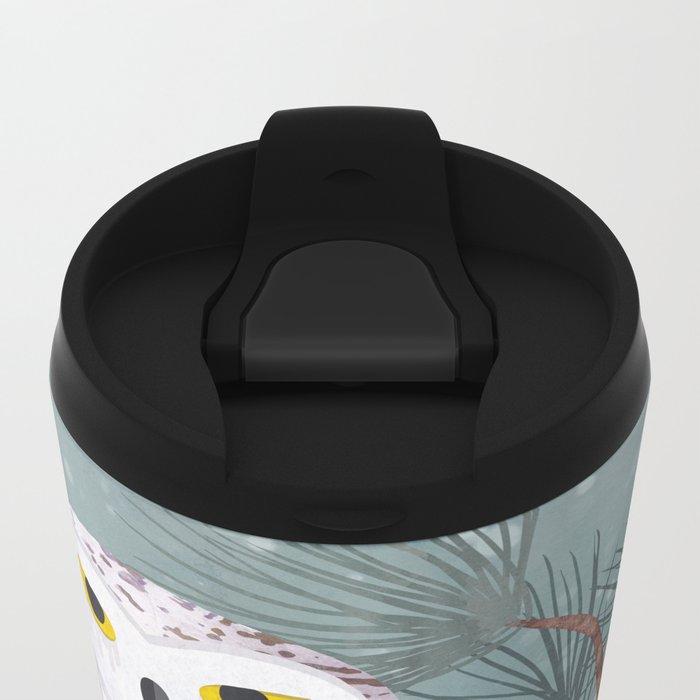 Snowy Metal Travel Mug