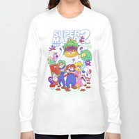 mario bros Long Sleeve T-shirts featuring Mario Bros. 2 nostalgia  by Damon Fernandez