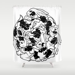 Cloudy Bunnies Shower Curtain