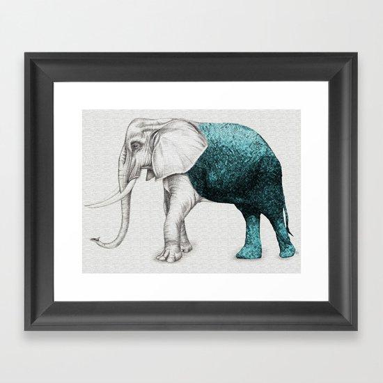 The Stone Elephant Framed Art Print