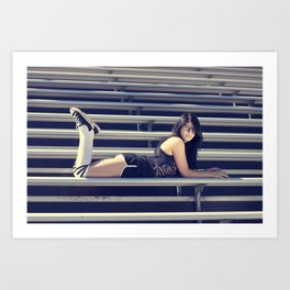 Schools out for summer Art Print