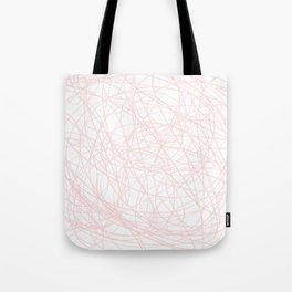 Pink line doodle single line Tote Bag