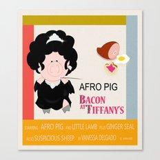 Bacon at Tiffany's Canvas Print