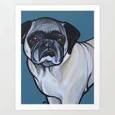 Murphy the pug Art Print
