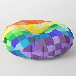 Pixelated Rainbow Floor Pillow