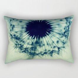 dandelion green teal Rectangular Pillow
