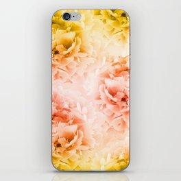 Yellow Orange Peonies Dream #1 #floral #decor #art #society6 iPhone Skin