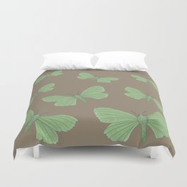 Emerald Moth Duvet Cover