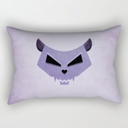 Purple Funny Evil Cat Skull Rectangular Pillow
