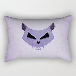 Purple Evil Cat Skull Rectangular Pillow