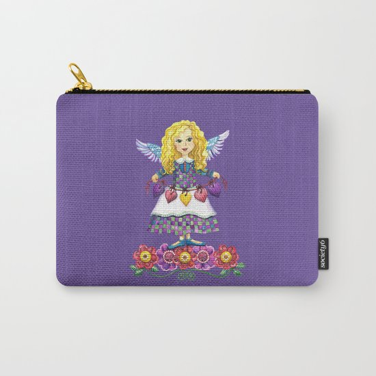 Angel Love (Purple) Carry-All Pouch