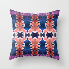 Skull Abstract Throw Pillow