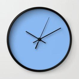 Jordy Blue - solid color Wall Clock