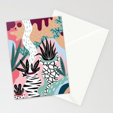 Pattern with plants Stationery Cards