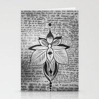 lyrics Stationery Cards featuring lyrics baby lyrics by Kaitlin Bloom
