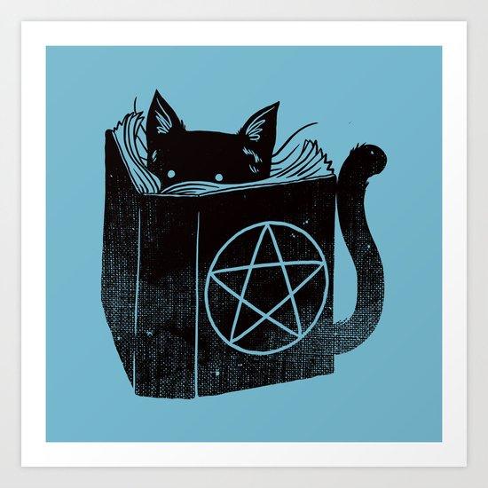 WITCHCRAFT CAT (Blue) Art Print