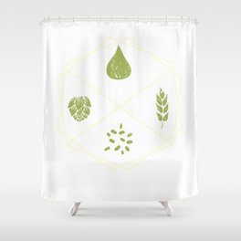 Funky Beer Brewer Craft Homebrew IPA Lover Gift T-Shirt Shower Curtain