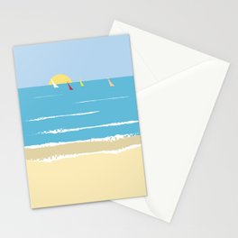 Sails from the beach Stationery Cards