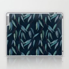 Eucalyptus leaves on indigo blue Laptop & iPad Skin