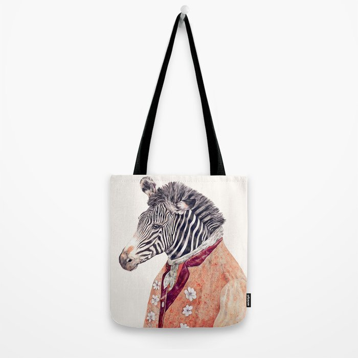 Zebra Cream Tote Bag