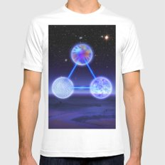 CSETI Logo in 3D Mens Fitted Tee White SMALL
