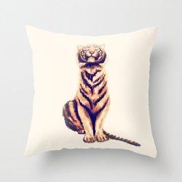 Zen Tiger  Throw Pillow