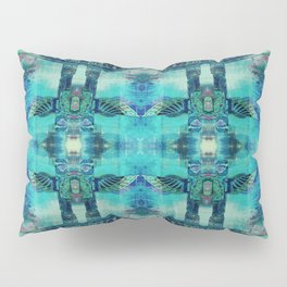 Totem Cabin Abstract - Teal Pillow Sham