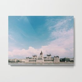 Budapest Skies Metal Print