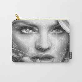Black and White Drawing Carry-All Pouch