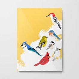 Holiday Birds Metal Print