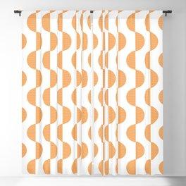 Orange Block Blackout Curtain