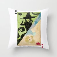 wicked Throw Pillows featuring Wicked by Serena Rocca