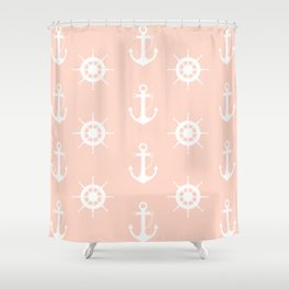 AFE Anchor and Helm Wheel Shower Curtain